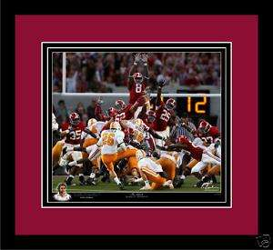 Alabama Football THE BLOCK Mount Cody print framed