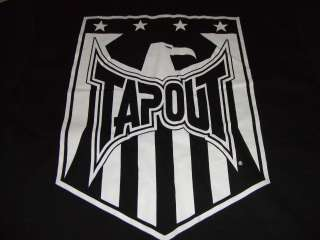 TAPOUT LOGO EAGLE SHIELD BLACK T SHIRT BJJ FIGHT MMA VALE TUDO SIZE X