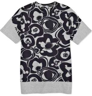 Clothing  T shirts  Crew necks  Flower Print T Shirt