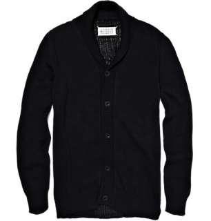 Maison Martin Margiela Contrasting Weave Cotton Cardigan  MR PORTER