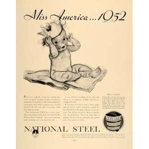 1936 Ad Weirite Baby Miss America National Steel Marsh