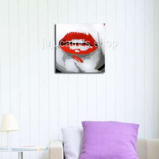 SEXY RED LIPS POP ART OIL PAINTINGS WALL DECOR ART #694