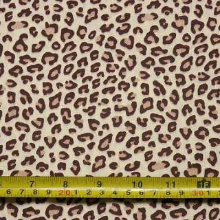 Leopard Print Cotton Fabric Brown Width 63 c900 |