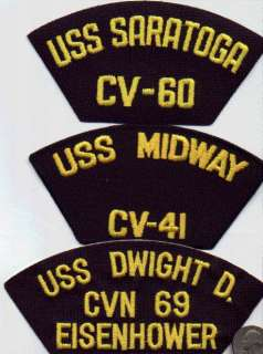 USN/NAVY VIETNAM SHIP CAP/HAT PATCH USS SARATOGA CV 60