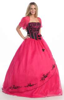 MASQUERADE BALL GOWNS CORSET WEDDING SWEET 16 PAGEANT DRESS