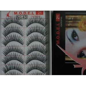 Model 21 Lashes High End No. 43 False Fake Eyelashes 10 Pairs Beauty