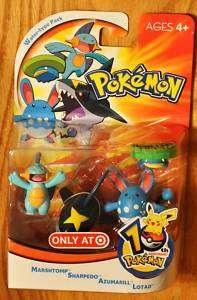 Pokemon Water Type Action Figure Pack Lotad Marshtomp