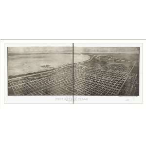 Historic Port Arthur, Texas, c. 1912 (M) Panoramic Map Poster Print