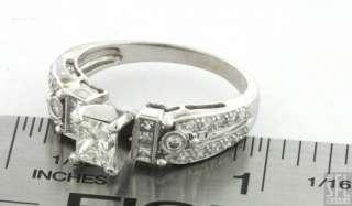 18K WHITE GOLD .78CT VS1/H PRINCESS DIAMOND WEDDING/ENGAGEMENT RING