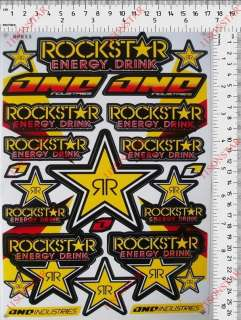 adesivi rockstar energy drink casco suzuki tuning quad