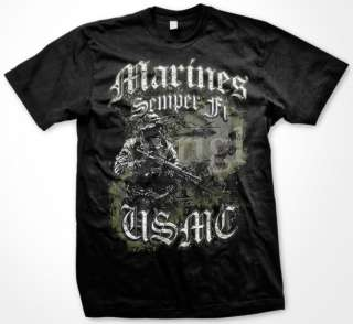 Marines Semper Fi USMC Marine Corps USA Mens T Shirt