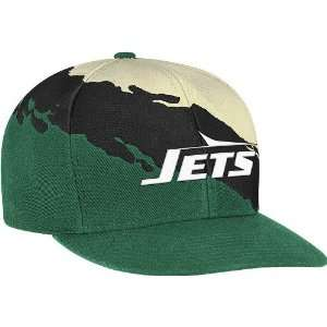 New York Jets Vintage Paintbrush Snap Back Hat: Sports & Outdoors
