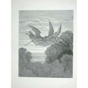 Gustave Dore Paradise Lost Winged Angels Bow Arrow Home & Kitchen