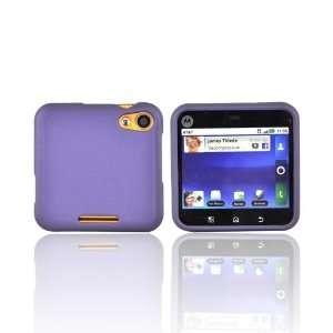 PURPLE For Motorola Flip Out Rubberized Hard Case Cover