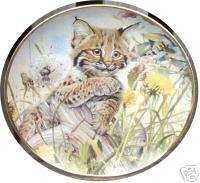 FRANKLIN MINT LETS BEE FRIENDS LYNX WILD CAT PLATE