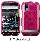 Diamond Pink Patterns Bling Faceplate Cover Case For Motorola Photon