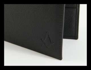 Masonic Wallet Italian Genuine Leather Freemasonry EXT