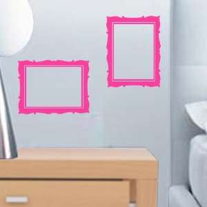 Small Picture Frames 2 Pack Art Wall & Window Decals: Home & Kitchen
