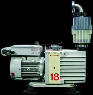 The Edwards 18 E1M18 vacuum pumps have a pumping speed displacement at