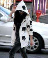 Korean Japan Fashion Style Skull Long Zipper Hoodie
