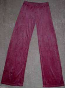 JUICY COUTURE S RASBERRY PINK VELOUR PANTS 34 1/2 Long