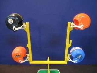 1970s Vintage NFL 28 Team Mini Football Helmet & Goal Post Set