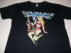 VAN HALEN GUITAR HERO TOUR 2009 ROCK TEE NEW L