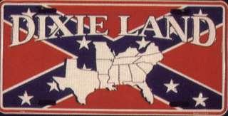 CSA Dixie Land Rebel Confederate LICENSE PLATE flag tag
