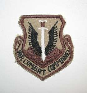 THEATER MADE USAF AIR COMBAT COMMAND DESERT PATCH