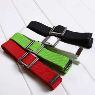 Color Mens boys move buckle Military Thicker canvas belt Free