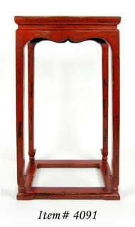 TOP WOOD STAND Plant Display Side End Entry Table 32x19x14