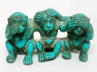 SEE HEAR SPEAK NO EVIL THREE RESIN MONKEYS