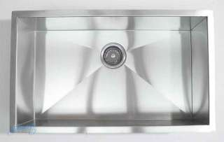 30 Stainless Steel Zero Radius Undermount Kitchen Sink