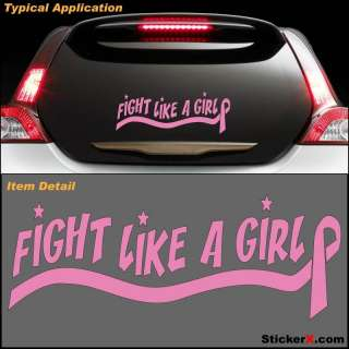 Fight Like A Girl Pink Breast Cancer Ribbon decal