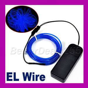 Flexible Neon Light Glow EL Wire Rope Tube Car Party BL