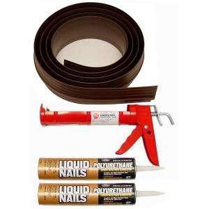 Tsunami Seal 18 Ft. Brown Garage Door Threshold Kit 52018 at The Home