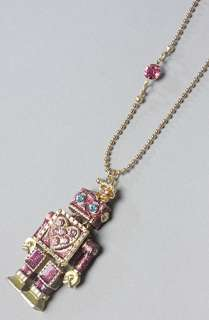 Betsey Johnson The Tzarna Princess Robot Pendant Long Necklace