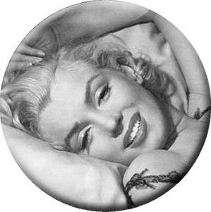 Button Pin Badge Marilyn Monroe Bed