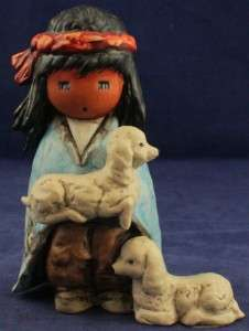 The Blue Boy Two Little Lambs   Goebel Hummel Figurine Ted Degrazia