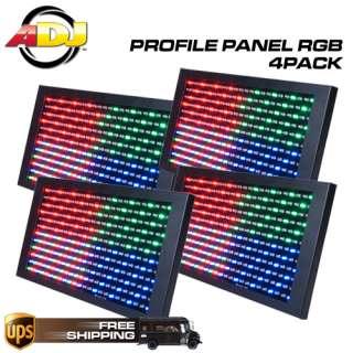 AMERICAN DJ PROFILE PANEL RGB LED LIGHTING PANEL 4 PACK 640282001359
