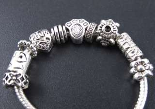 Wholesale 100x Tibetan Silver Mix Lovely Spacer Charm Beads Fit