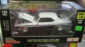 1969 CHEVY CAMARO HOT ROD #56 RACING CHAMPIONS 1/24