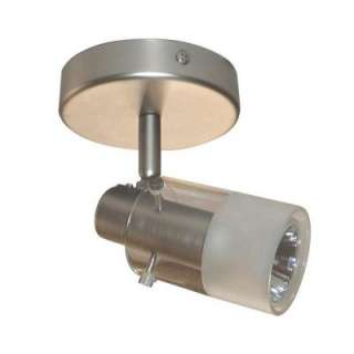 Hampton Bay 1 Light Brushed Steel Ceiling Fixture EC334BA at The Home