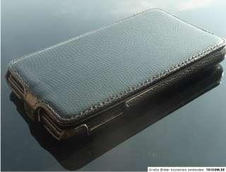 Samsung Galaxy Note N7000 Case Tasche Hülle Snake Bumper Flip SCHWARZ