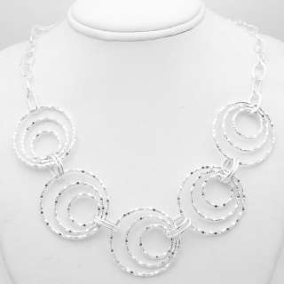 Diamond Cut Circle Chain Necklace 925 Silver SHOPNBC