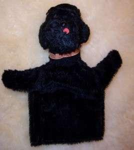 Steiff Poodle Dog Vintage Black Snobby Puppet Cute