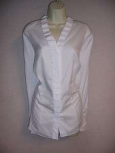 JONES NEW YORK Woman White 100% Cotton Long Sleeve Blouse Top 3X NWT