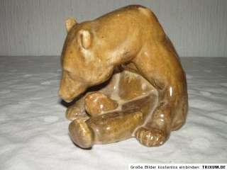Alte Bären Skulptur Rudolf Rempel Art Deco ? Bär Figur