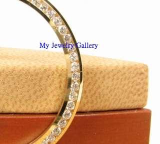 18K SOLID GOLD DIAMOND BEZEL FITS MENS ROLEX WATCH