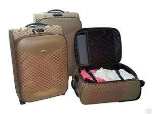 New 3 Pieces Upright Rolling Luggage Set Suitcase